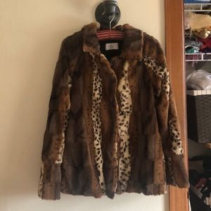 Dolce Vita faux fur patchwork jacket